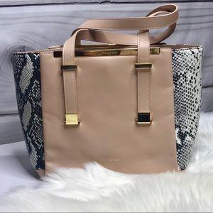 Ted Baker Leather Exotic Shopper Satchel